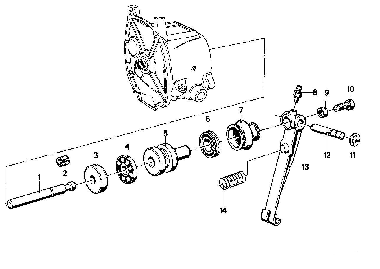 Neutral Switch Repair Transmission Input Seal And Clutch Push Rod Pushrod Engine Diagram The Drawing Appears To Be Incorrect With Regards Rubber Boot 7 Narrow End Goes Over Of Piston 5 While Wide Fits A